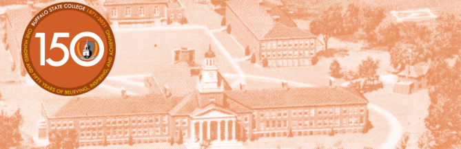 picture of Rockwell Hall 150th Year at Buffalo State
