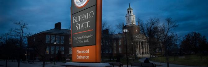 Buffalo State College entrance sign