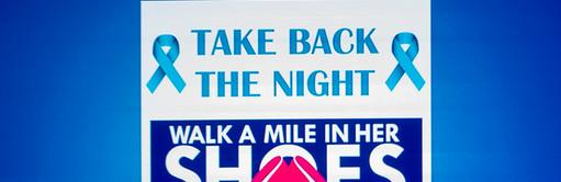 A Slideshow Featuring the Take Back the Night Program Information