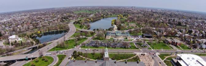 Ariel View Of Rockwell Hall and Buffalo
